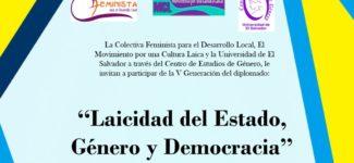 V Edición del Diplomado: Laicidad del Estado, Género y Democracia